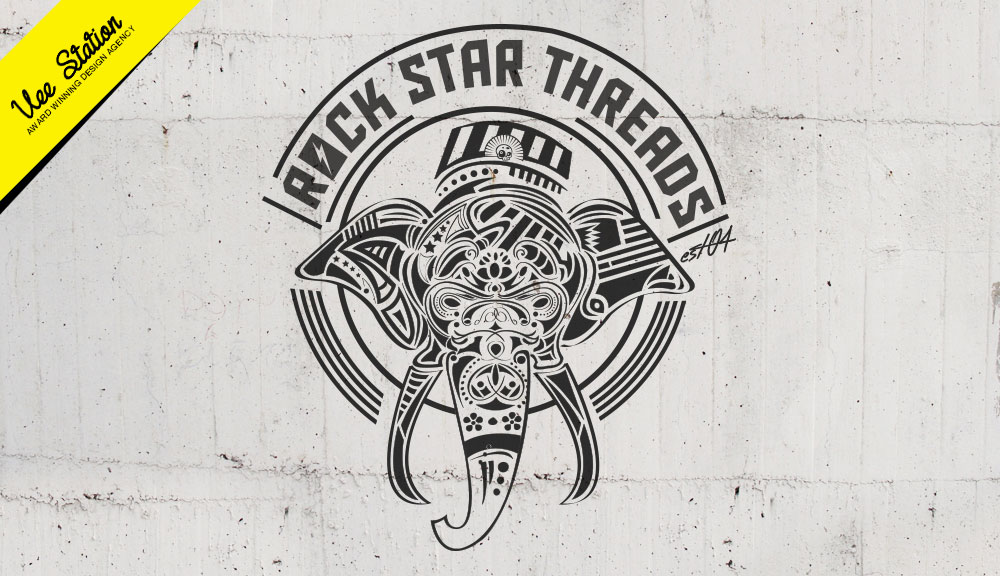 Rock Star Threads vector illustration