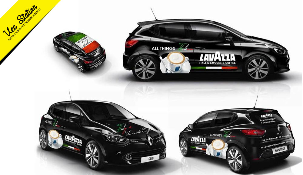 Lavazza coffee branding elements