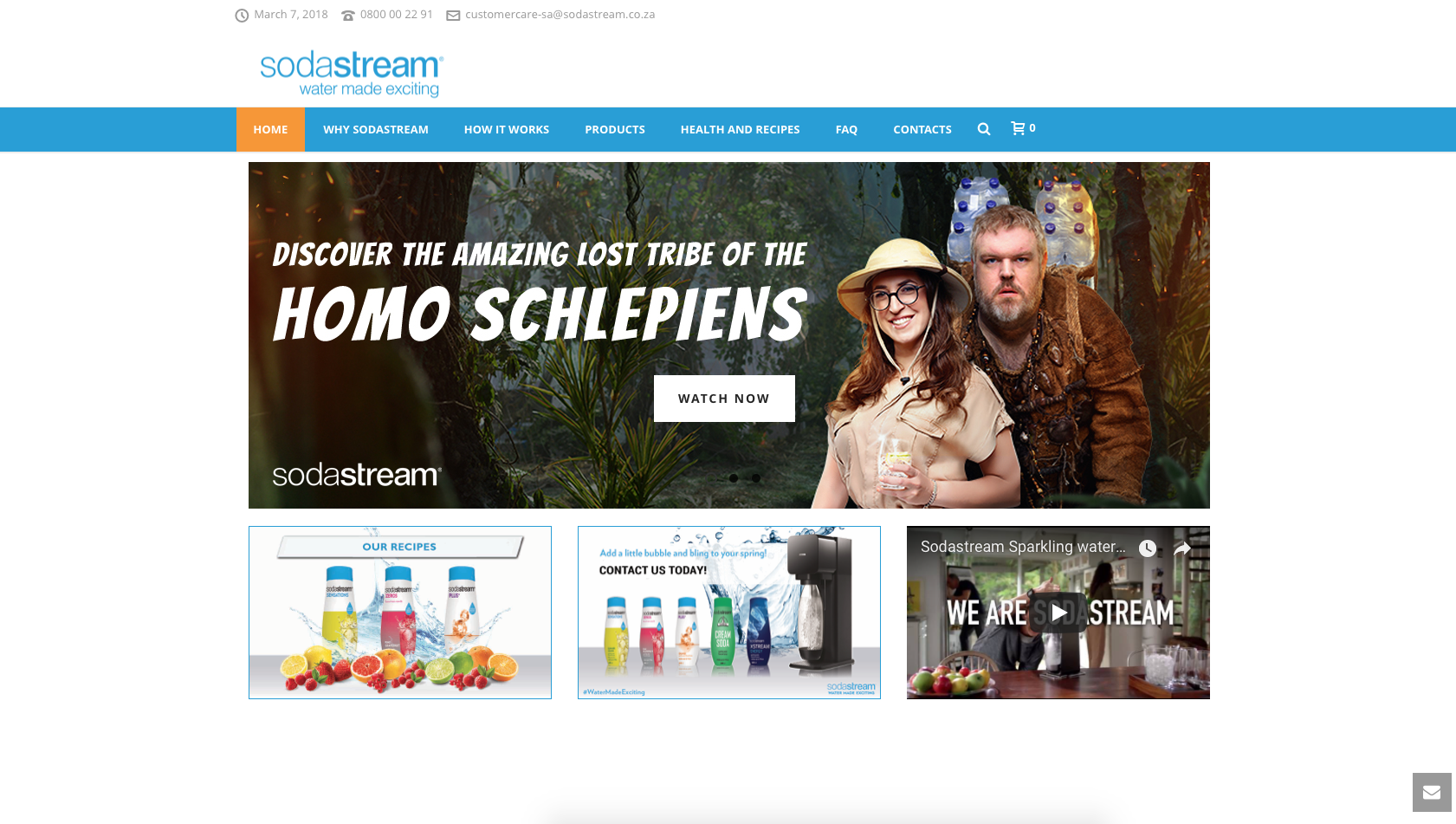 Sodastream website development