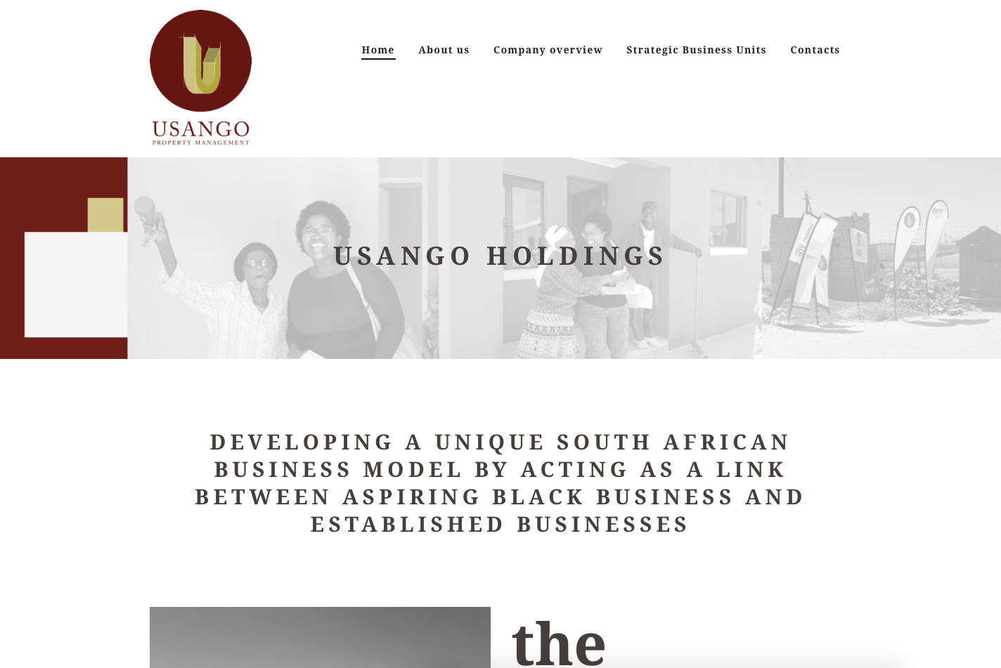 Usango website development