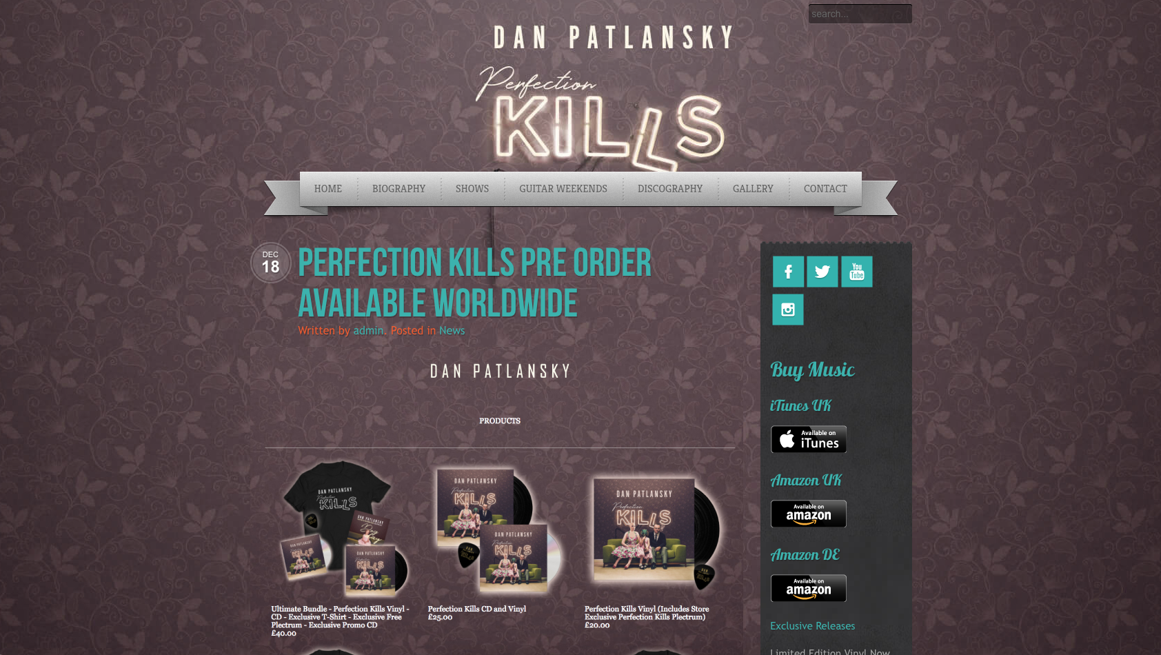 Website development - Dan Patlansky