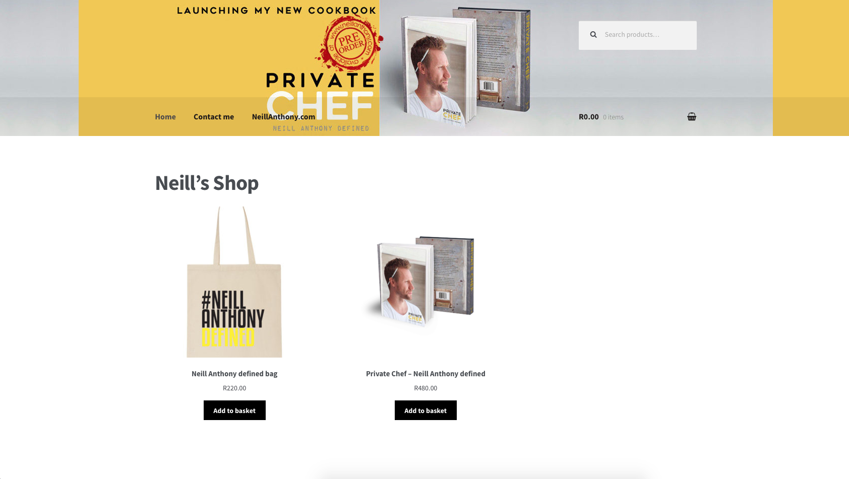 Neill Anthony web store development