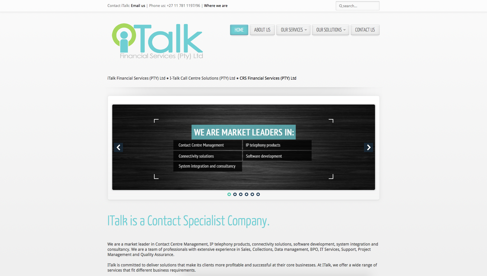 I-talk website development