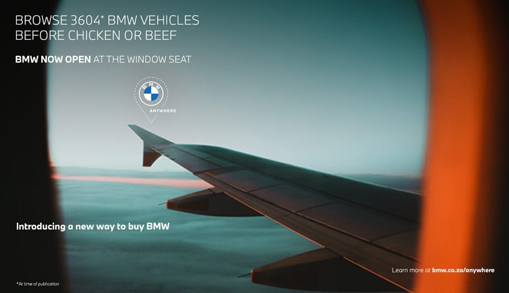 BMW sponsored portals landing page