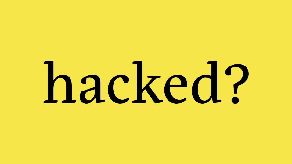 Hacked website?